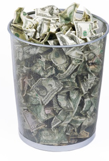 money trash can